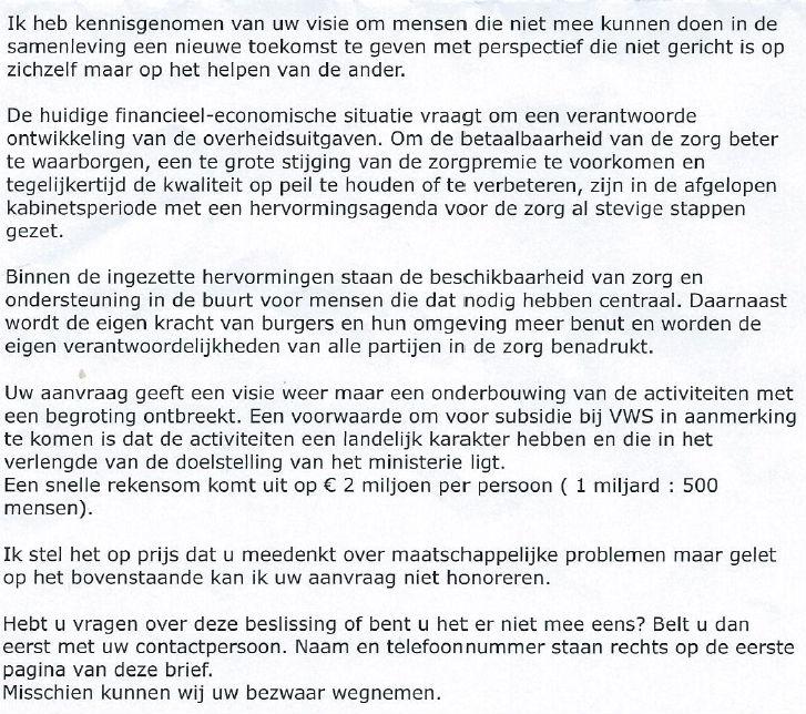 Gloriestoel wil 1 miljard subsidie van VWS | Goedgelovig.nl