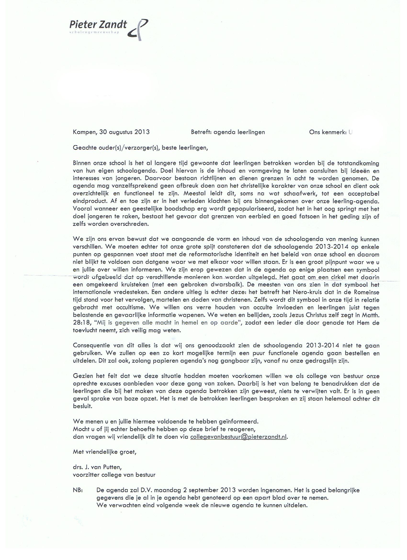 Pieter Zandt vernietigt eigen occulte leerlingenagenda